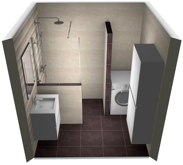 Kleine badkamer met wasmachine - Kleine badkamers