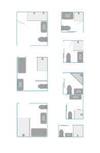 kleine badkamer plattegronden