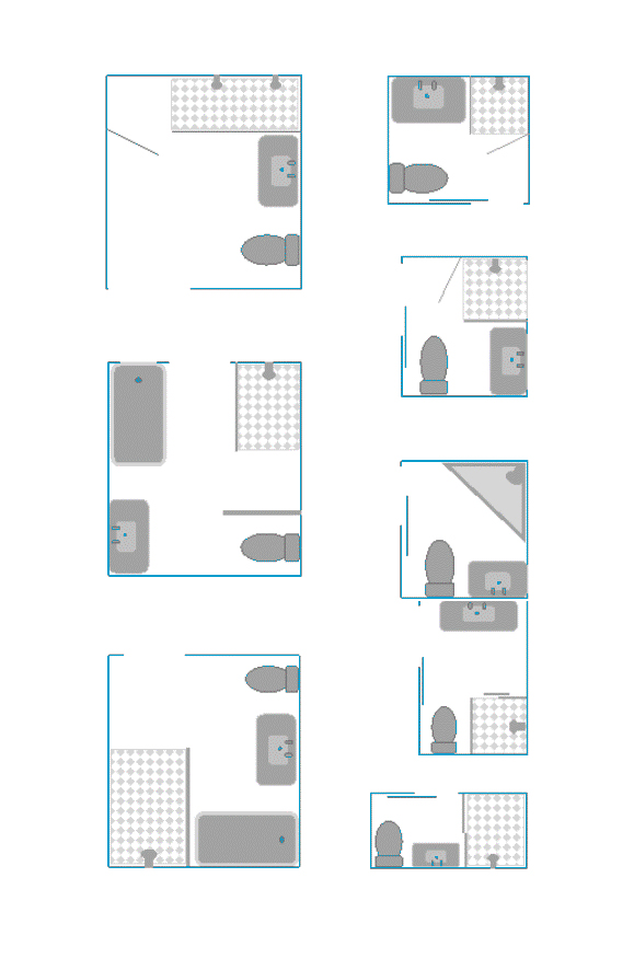 8 kleine badkamer plattegronden - Kleine badkamers