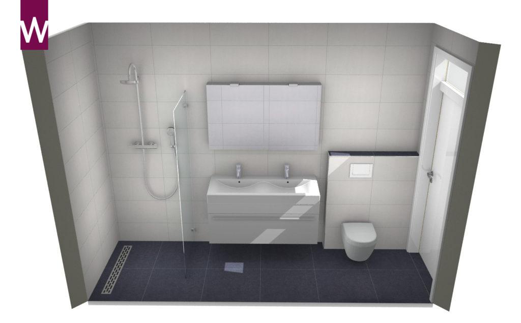 Kleine smalle badkamer - Kleine badkamers