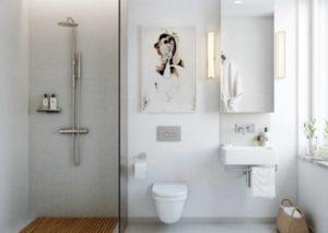 kleine badkamer douche