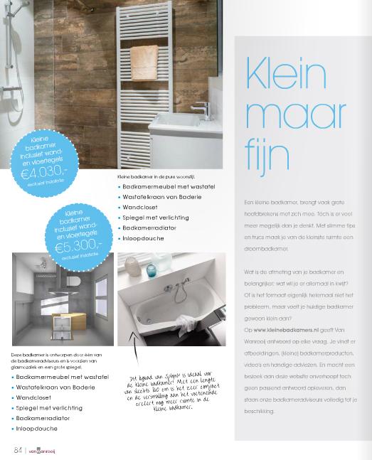 Gratis magazine met kleine badkamer special! - Kleine badkamers