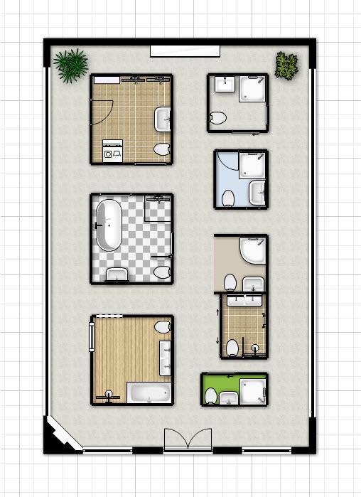 plattegrond-kleine-badkamer - Kleine badkamers