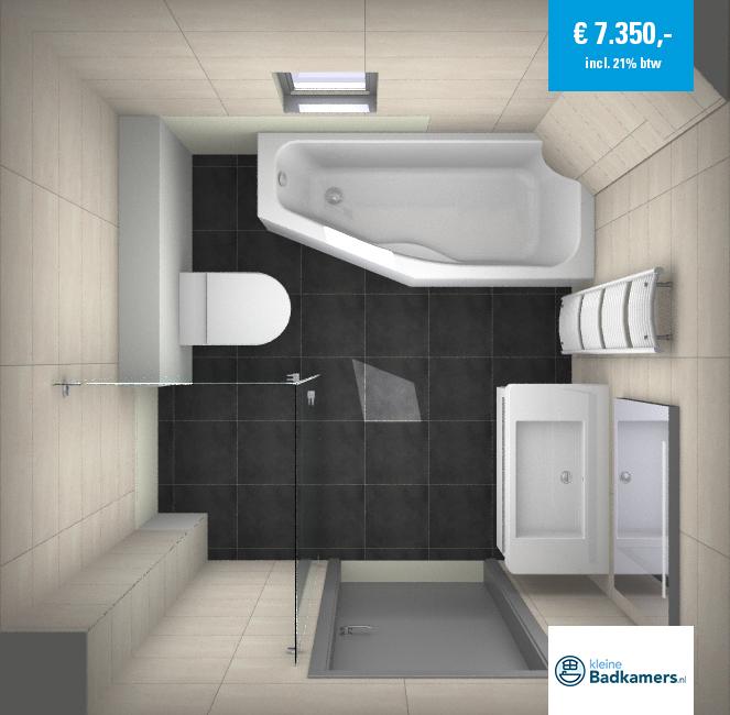 Kleine badkamer met bad kleine badkamers - Badkamer in m ...