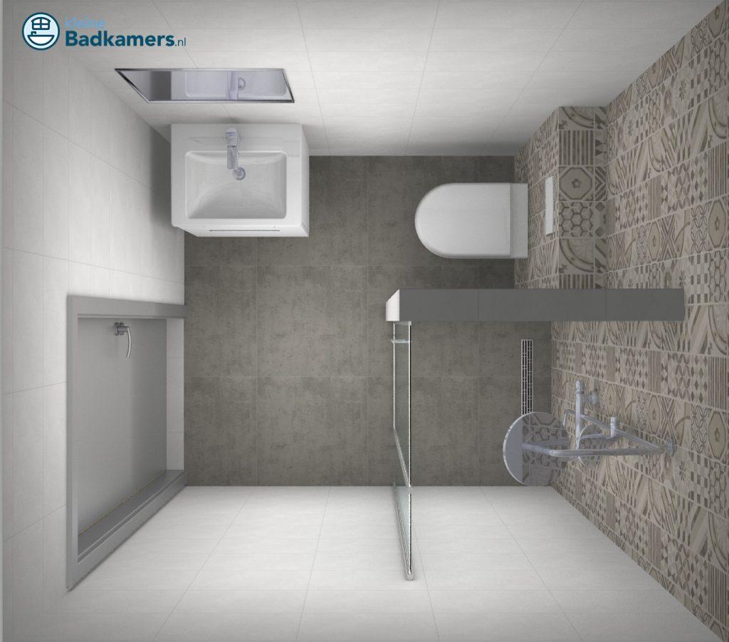 Super Kleine badkamer met trendy tegels - Kleine badkamers @KD55
