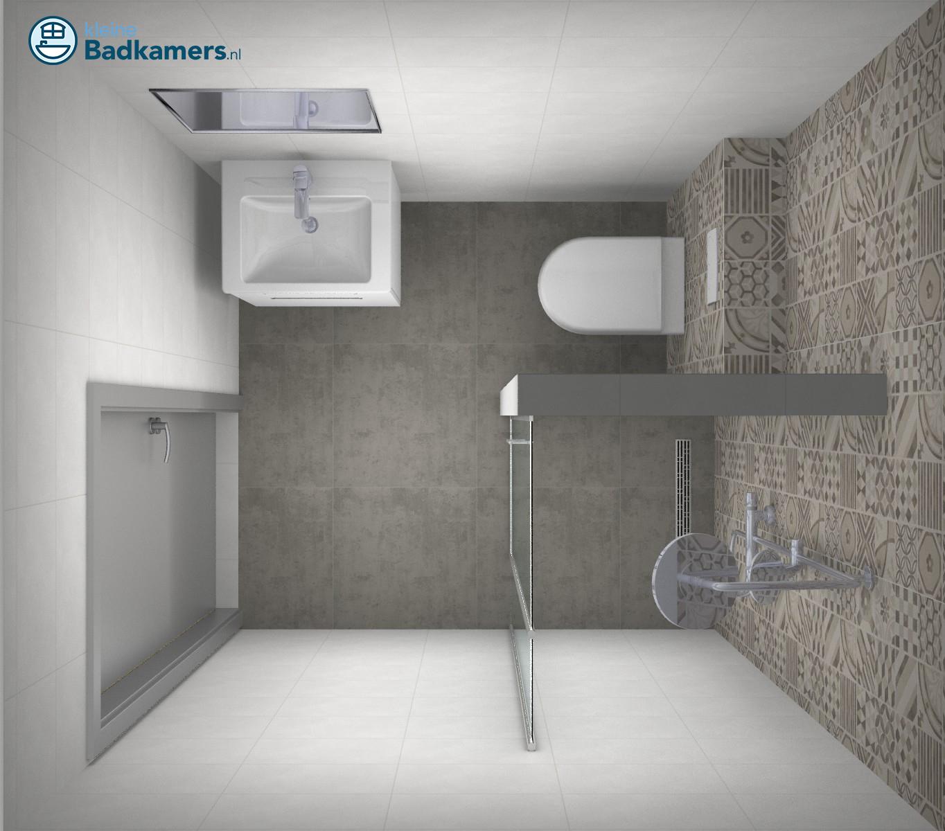 Kleine badkamer met trendy tegels kleine badkamers - En grijze bad leisteen ...