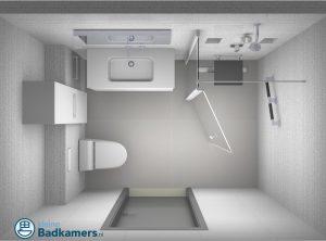 kleine senioren badkamer