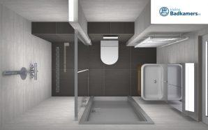 Hout beton schutting: badkamer 2x3 meter