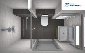 praktische badkamer