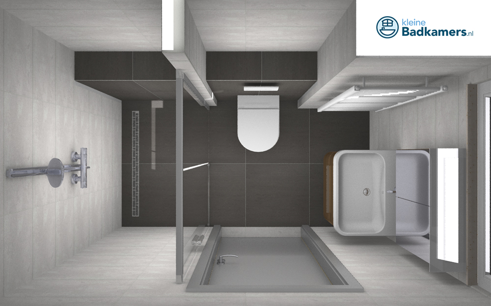 Praktische ingedeelde badkamer kleine badkamers for App badkamer ontwerpen