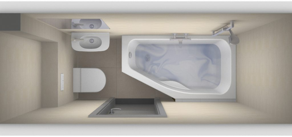Kleinste badkamer met bad? - Kleine badkamers